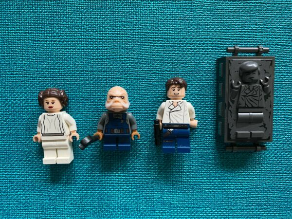 LEGO Minifigures Star Wars Han Solo Han Solo In Carbonite Princess Leia Ugloste $35.00