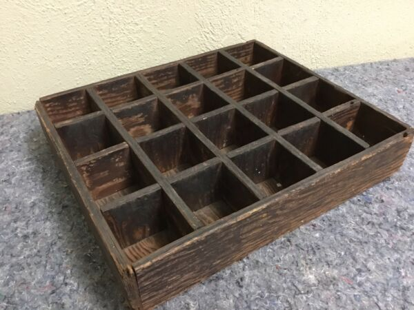 Nice Antique Crate with 20 Partitions Great For Display