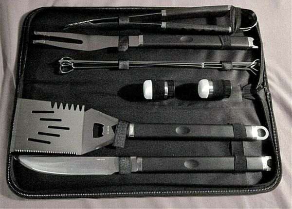 11 Piece BBQ Grill Set Heavy Duty Stainless Steel NEW