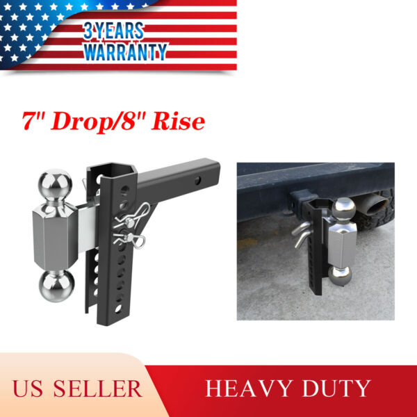 Adjustable Towing Hitch 2quot; Receiver Dual Ball Trailer 2quot; amp; 2 5 16#x27;#x27; $78.90