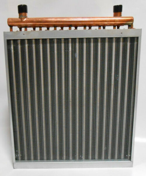 20x20 Water to Air Heat Exchanger Hot Water Coil Outdoor Wood Furnace *Free Ship $180.99