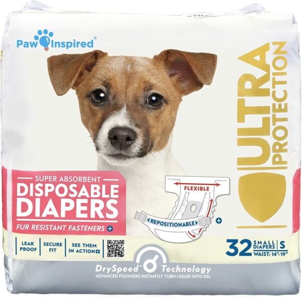 Disposable Dog DiapersSuit for Female1pack 32count Small Size $20.69
