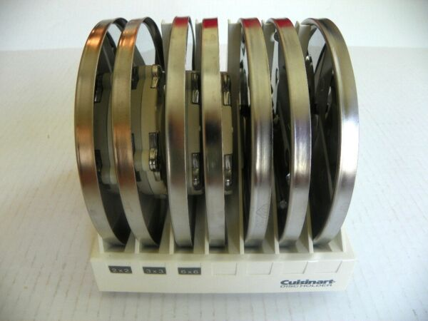 CUISINART 7 BLADE SET W HOLDER FOR 11 amp; 7 CUP CUISINART FOOD PROCESSORS
