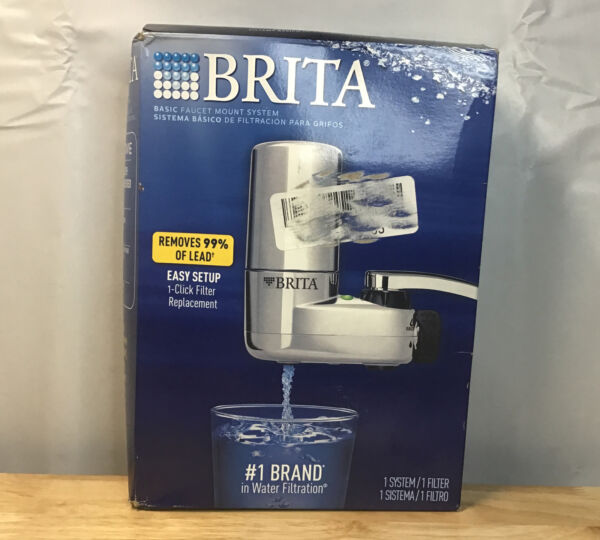 NEW Brita On Tap Faucet Water Filter System Chrome Removes 99%