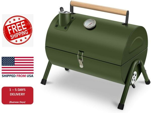 Portable Grill BBQ Smoker Charcoal Outdoor Camping Wood Oven Barbeque Summer US $99.99