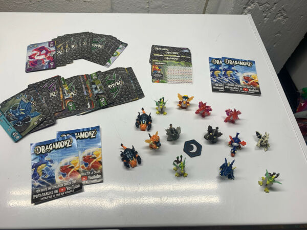 dragamonz toy and card lot $19.99