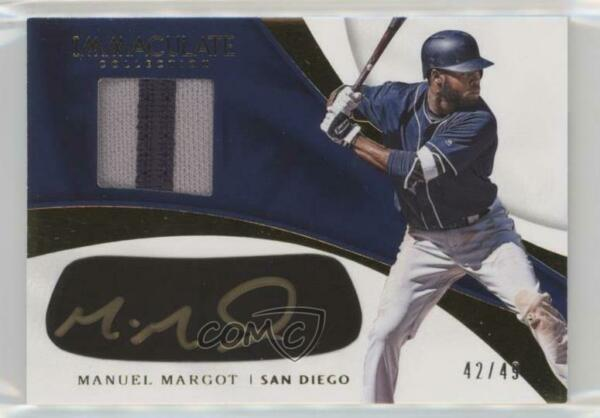 2017 Immaculate Carbon Material Signatures 49 Manny Margot Manuel Rookie Auto $17.79