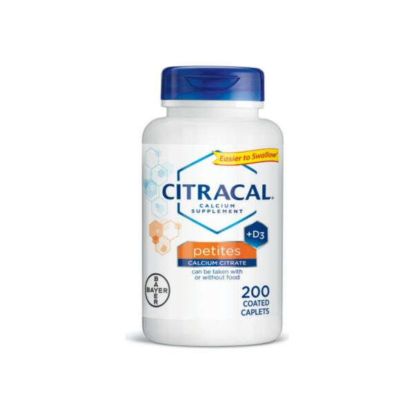 Citracal Calcium Citrate Supplements with Vitamin D Petites 200 CT $15.01