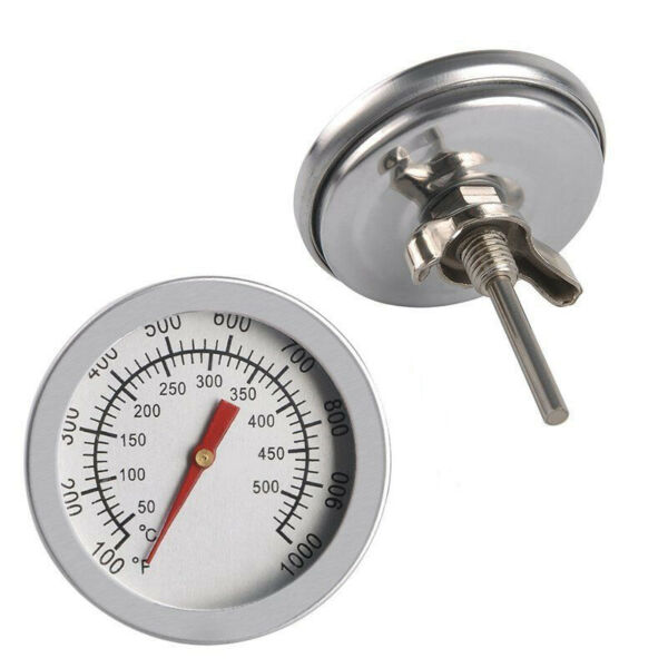 Barbecue BBQ Smoker Grill Thermometer Temperature Gauge50 500°C Stainless Steel