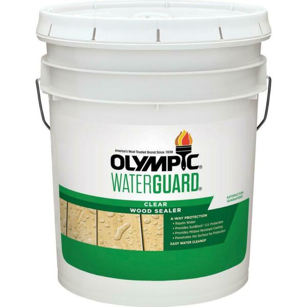 Olympic Clear Wood Sealer Waterguard 5 Gal $92.96