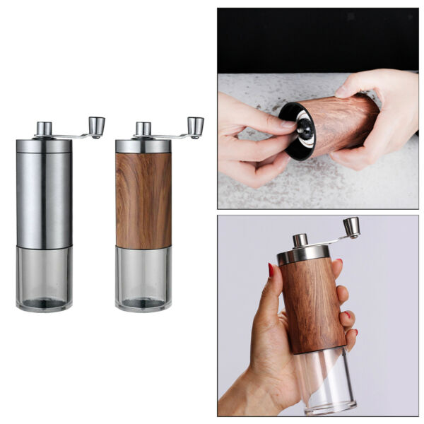 Compact Manual Coffee Grinder Conical Burr Milling for Espresso Office