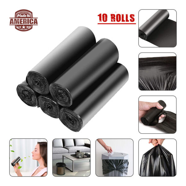 10 Rolls Recycled Trash Bags Biodegradable Bags Compostable Safety environmental $17.58