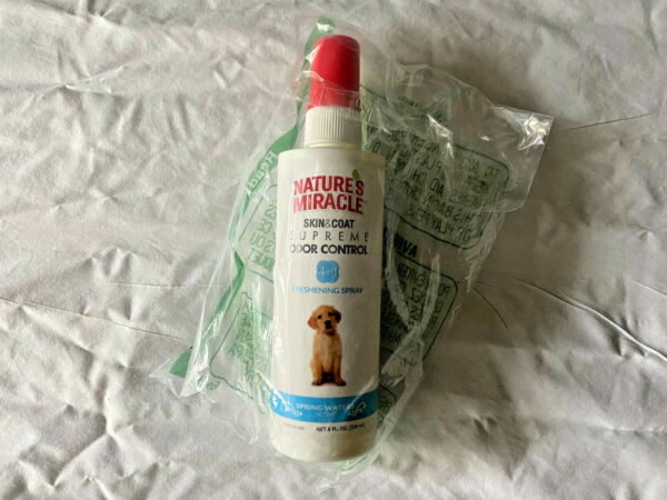 Natures Miracle Supreme Odor Control Dog Spray 8 Oz 4 in 1 Spring Water $7.00