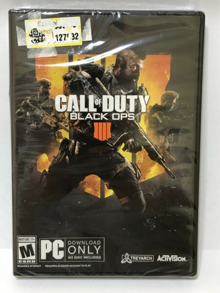 Call of Duty: Black Ops 4 PC Brand New and Factory Sealed FAST DELIVERY $18.97