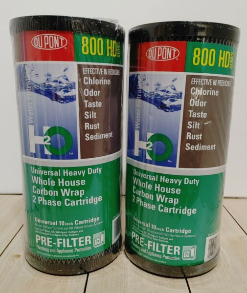 2 Pack DuPont WFHDC8001 Carbon Wrap 2 Phase Water Filter Cartridge 10quot; 5 Micron $28.00