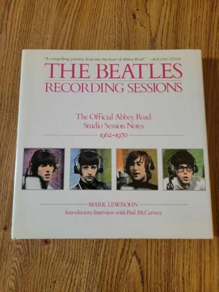 """""""The Beatles Recording Sessions' 1988 1st print hardback book in near mint cond"""