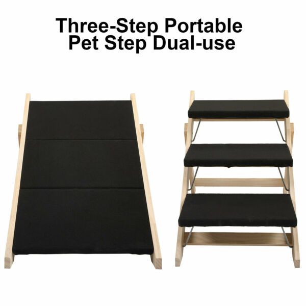 Dog Stairs Three Step Portable Pet Step Dual use Foldable Stair and Pets Steps $60.99