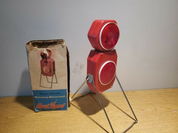 Vintage Road Signal Lantern Rotating Motorized Parts Only $19.99