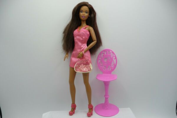 AA Nikki Barbie Doll Articulated Arms Pink Streaked Hair ⭐️ $16.00