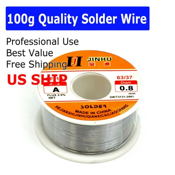 60 40 Tin Rosin Core Solder Wire For Electrical Soldering Sn60 Flux 0.6mm 100g