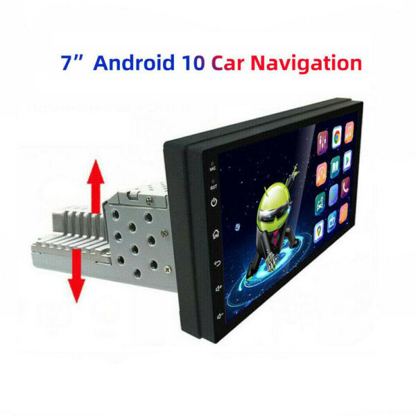 7 #x27;#x27; Single Car Radio Stereo Android 10 BT GPS MP5 WiFi HD touch screen Player $103.17