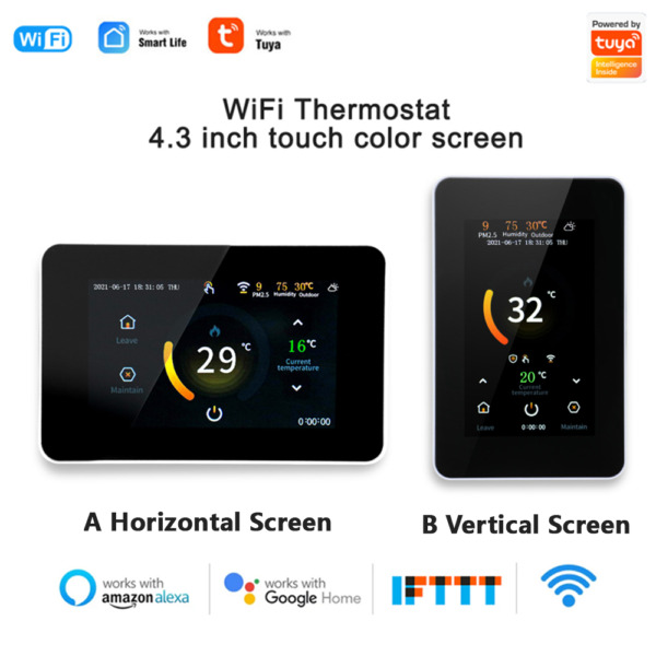 Smart Programmable Wifi Thermostat LCD Digital Heated App Control Thermostat USA $40.43