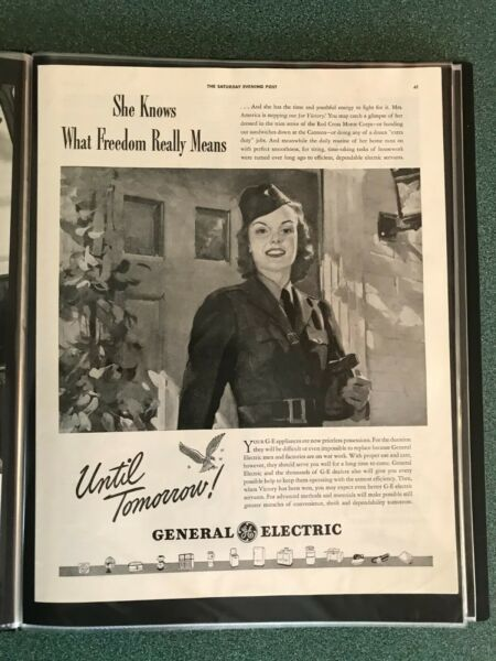 Female Red Cross Motor Corps Serves the Homefront WWII Ad $9.99