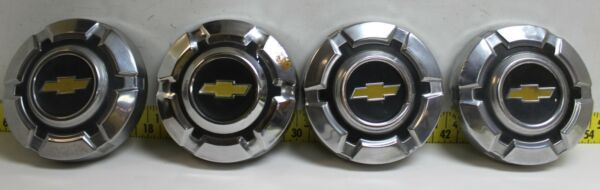 Used OEM GM 10.5quot; Stainless Dog Dish Hub Caps 1967 75 Chevrolet C10 Truck DD50 $395.96