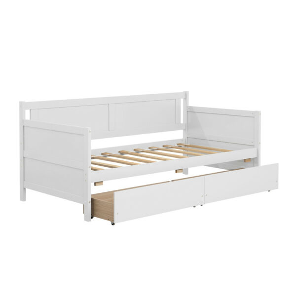 Wood Daybed Sofa Beds Sofabed Sleeper Furniture with 2 Storage Drawers US Stock