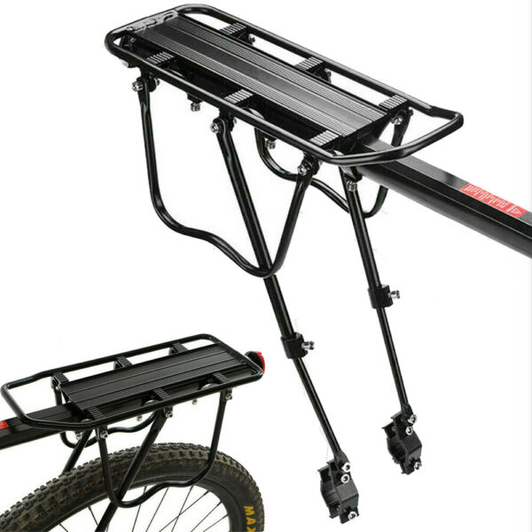Rear Bike Rack Bicycle Cargo Rack Quick Release Luggage Carrier 110 Lb Capacity $19.99