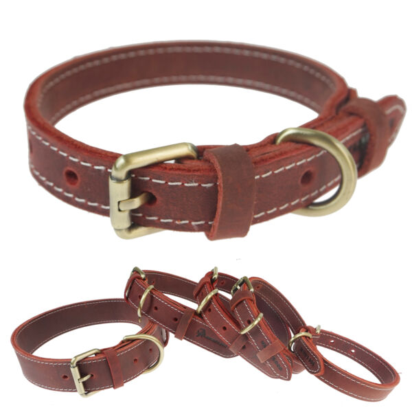 USA Leather Dog Collar Padded Collar For Hunting Training Outdoor Sports $7.48