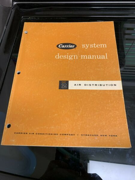 1974 Carrier System Part 2 design manual air conditioning distribution book $19.19