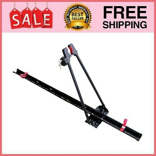 Bike Rack for Car Roof Upright Single Bicycle Carrier Trailer Lockable Universal $42.25