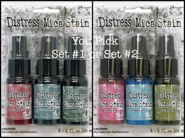 Ranger Tim Holtz Distress Mica Stain HOLIDAY Set #1 or Set #2 2021 Release
