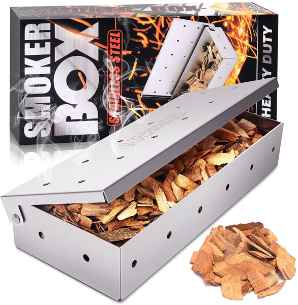 Barbeque Smoker Box Thicker Stainless Steel Heavy Duty Easy Access Cooking Tools