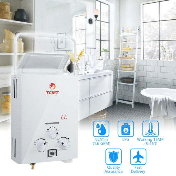 6L Outdooramp; Home Hot Water Heater 1.6GPM LPG Propane Gas Tankless Instant Boiler $71.98