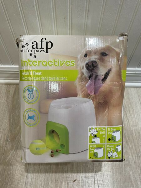 All for Paws Interactive Dog Fetch N Treat Dispenser Trainer $44.99