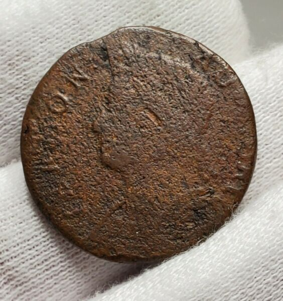 1786 Vermont Colonial Copper Coin RR 11 Rarity 4 Draped Bust Left