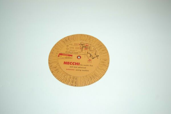 B1 NECCHI dial card on how to set up your machine for the type of stitch