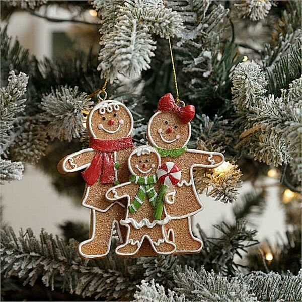 Holiday Gingerbread Christmas Ornament Family $12.00