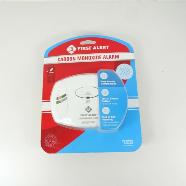 First Alert Carbon Monoxide Alarm Battery Operated 9V Included New $16.99