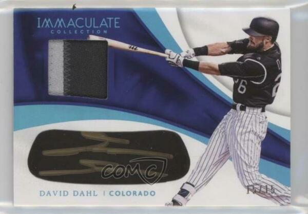 2017 Immaculate Carbon Material Signatures Blue 15 David Dahl Rookie Auto $23.83