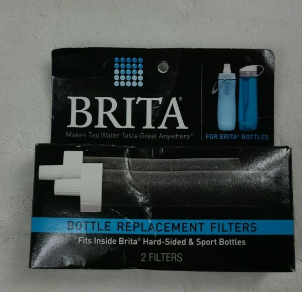 Brita Replacement Water Bottle Filter 2 Pack NEW. BOX Damaged.