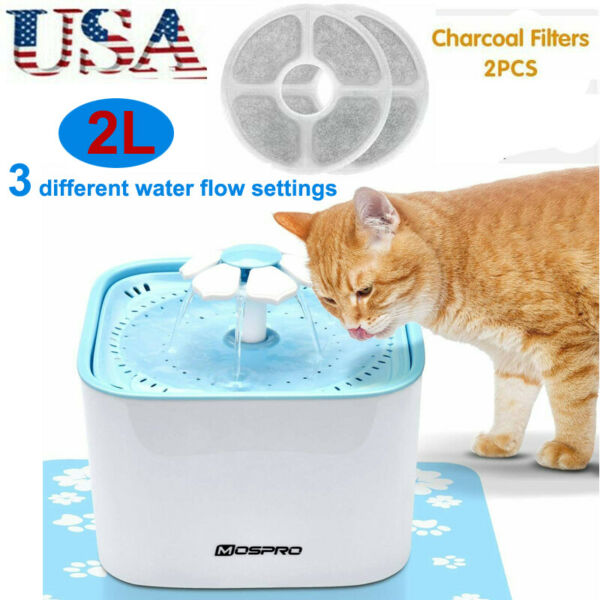 Electric Automatic Pet Water Fountain Drinking Dog Cat Bowl Auto Dish Dispenser $21.79