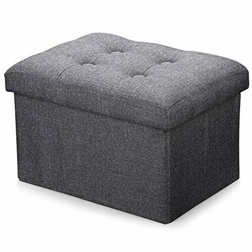 Storage Small Ottoman Foldable Rectangle Coffee Table Multipurpose 16*12*10in