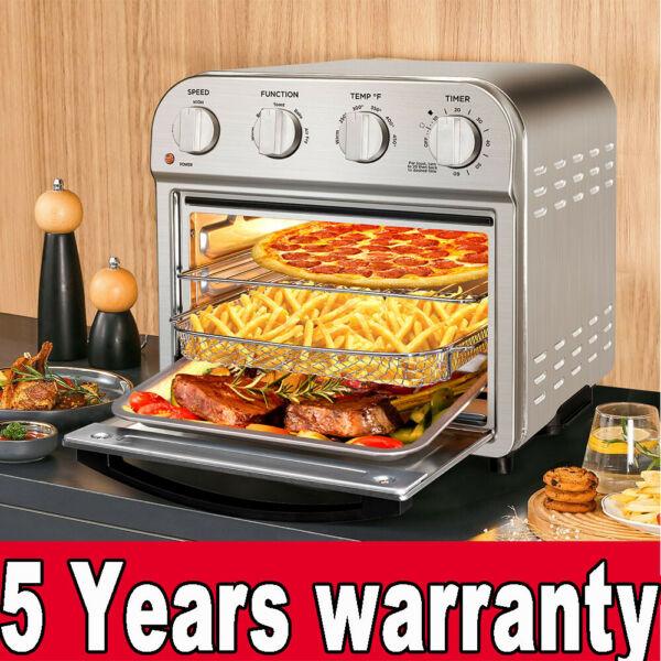 All In One 3 Rack Levels 10.6 Quart Air Fryer Toaster Oven Basket Wire Rack Tray $125.99