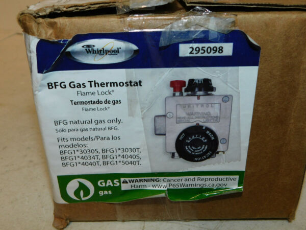 New Whirlpool 295098 BFG Gas Thermostat Flame Lock Model $40.00