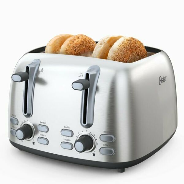 OSTER 4 SLICE TOASTER STAINLESS STEEL *DISTRESSED PKG