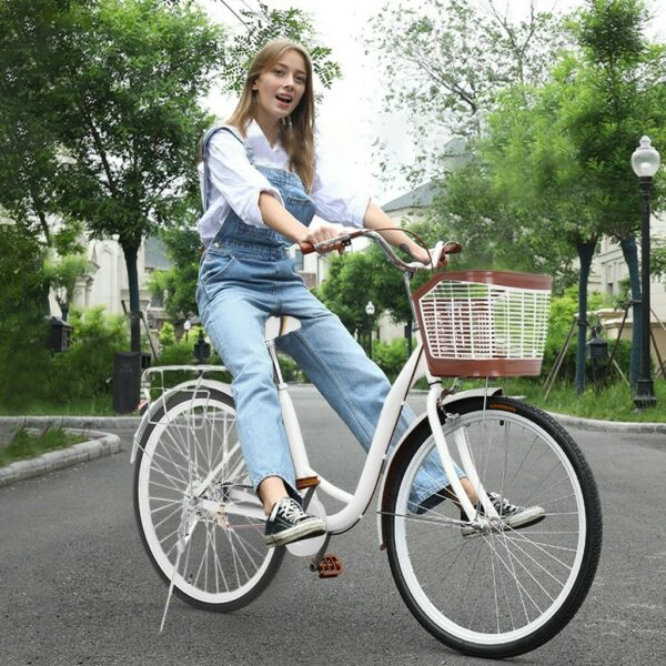 26 Inch Classic Bicycle City Bike Retro Bicycle Beach Cruiser Bicycle For Women $179.99