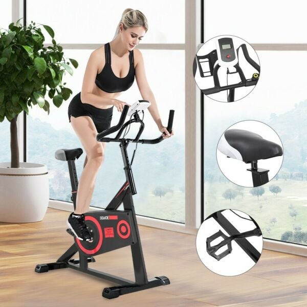Indoor Exercise Bike Stationary Bicycle Cardio Fitness Workout Gym amp; Home Black $140.57